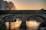 Folly Bridge at dusk